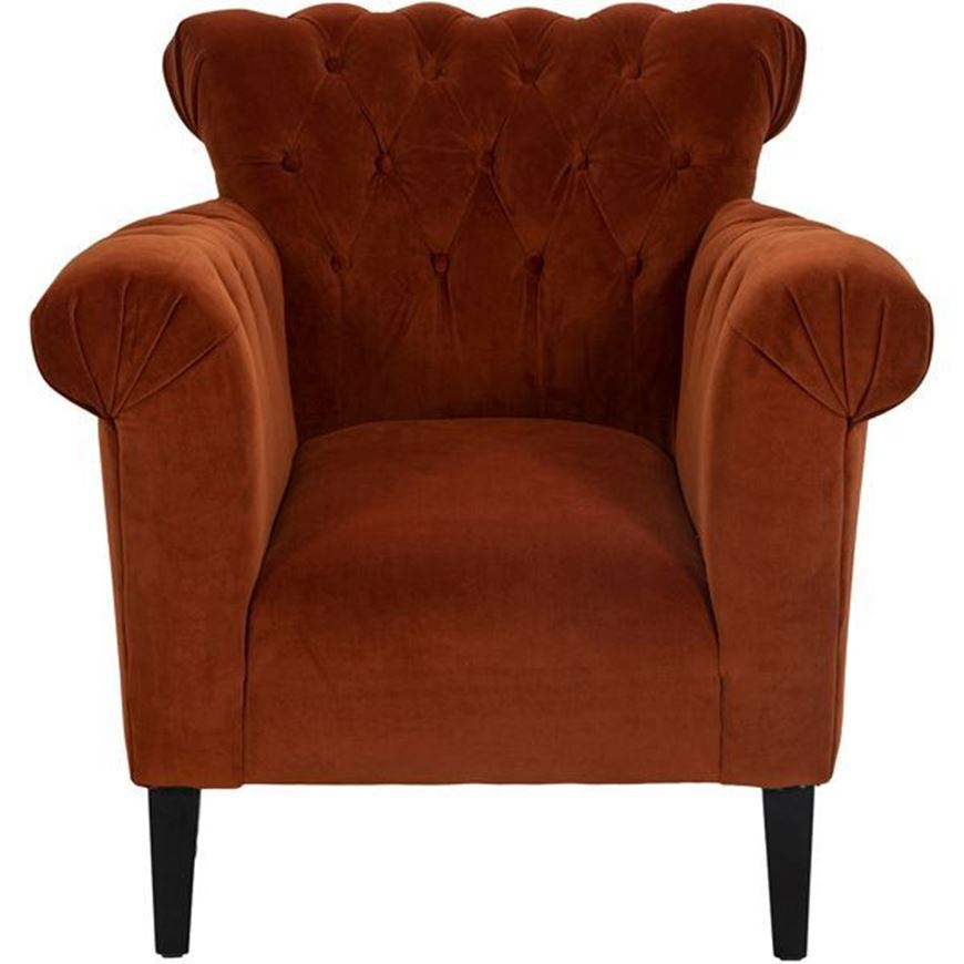 PACE armchair microfibre rust
