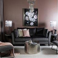 LOOS sofa 3 microfibre dark grey