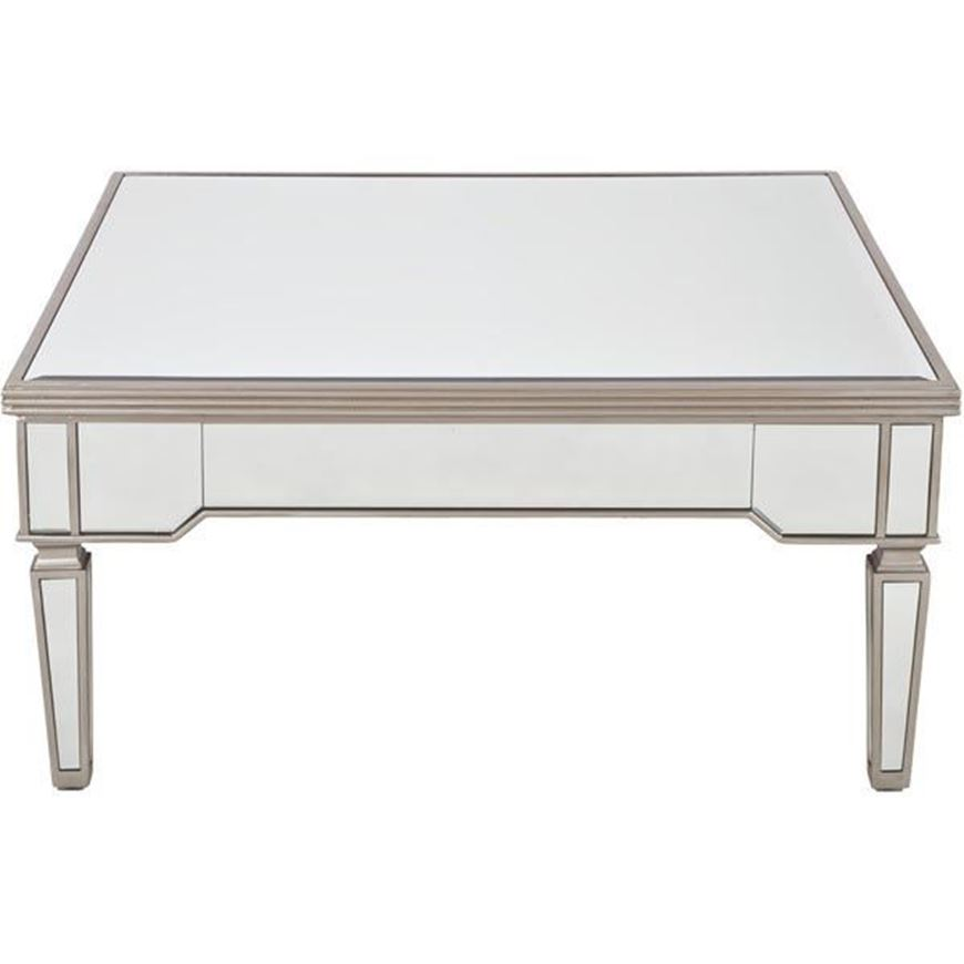 AINA coffee table 100x100 clear/gold