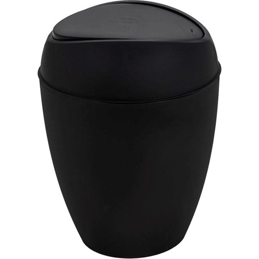 Picture of TWIRLA waste can with lid black