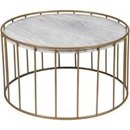 ENZO coffee table d80cm white/gold
