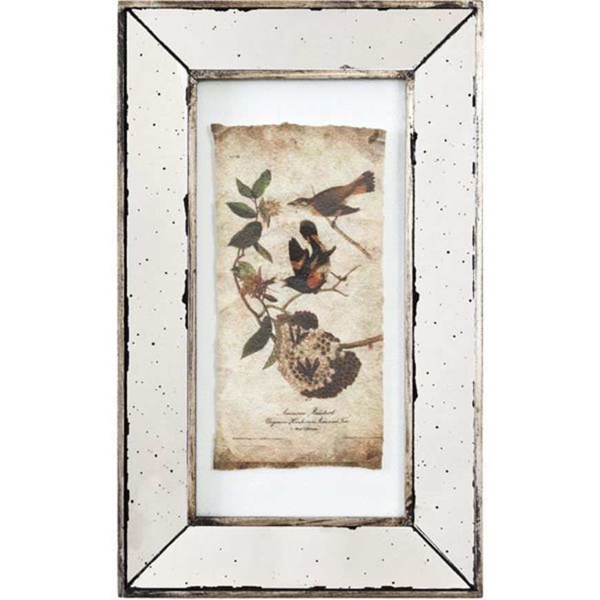 DON wall decoration 51x30 assorted 4 silver