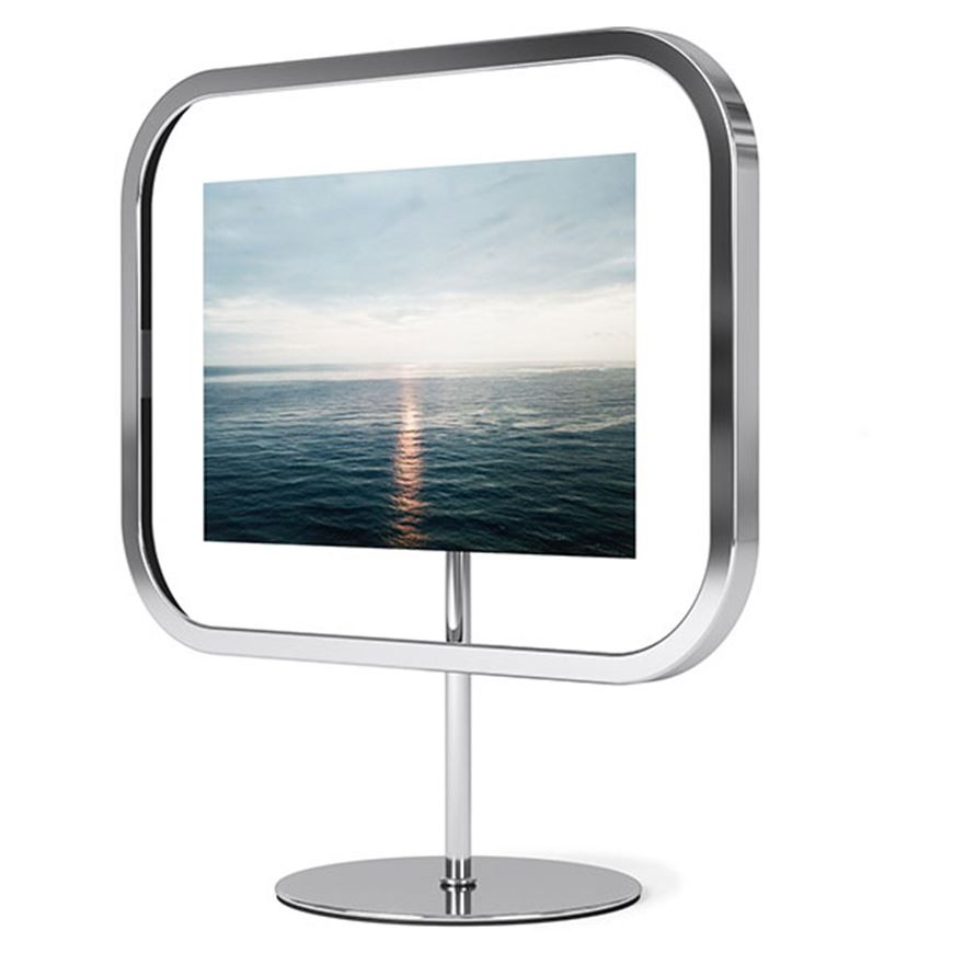 Picture of INFINITY sqround photo frame 10x15 chrome