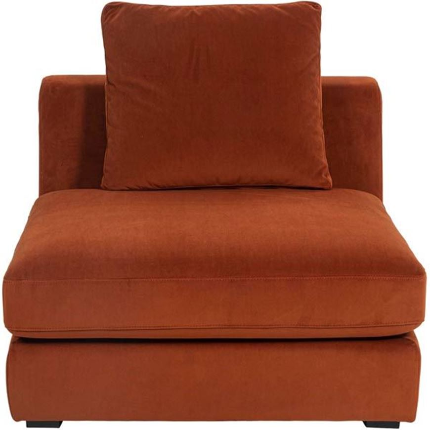 READ armless chair microfibre rust