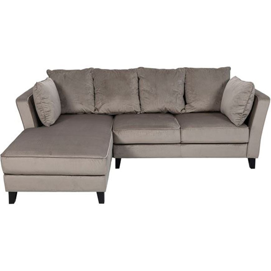 LOOS sofa 2.5 + chaise lounge Left microfibre taupe