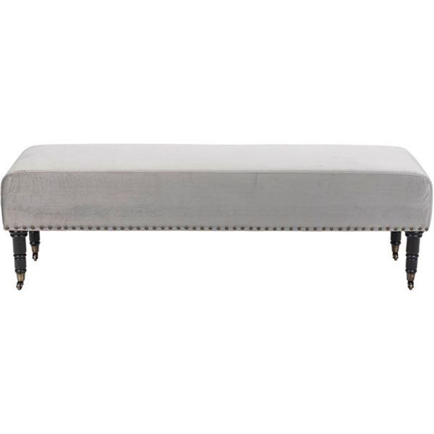 OLIVER stool 160x45 microfibre silver
