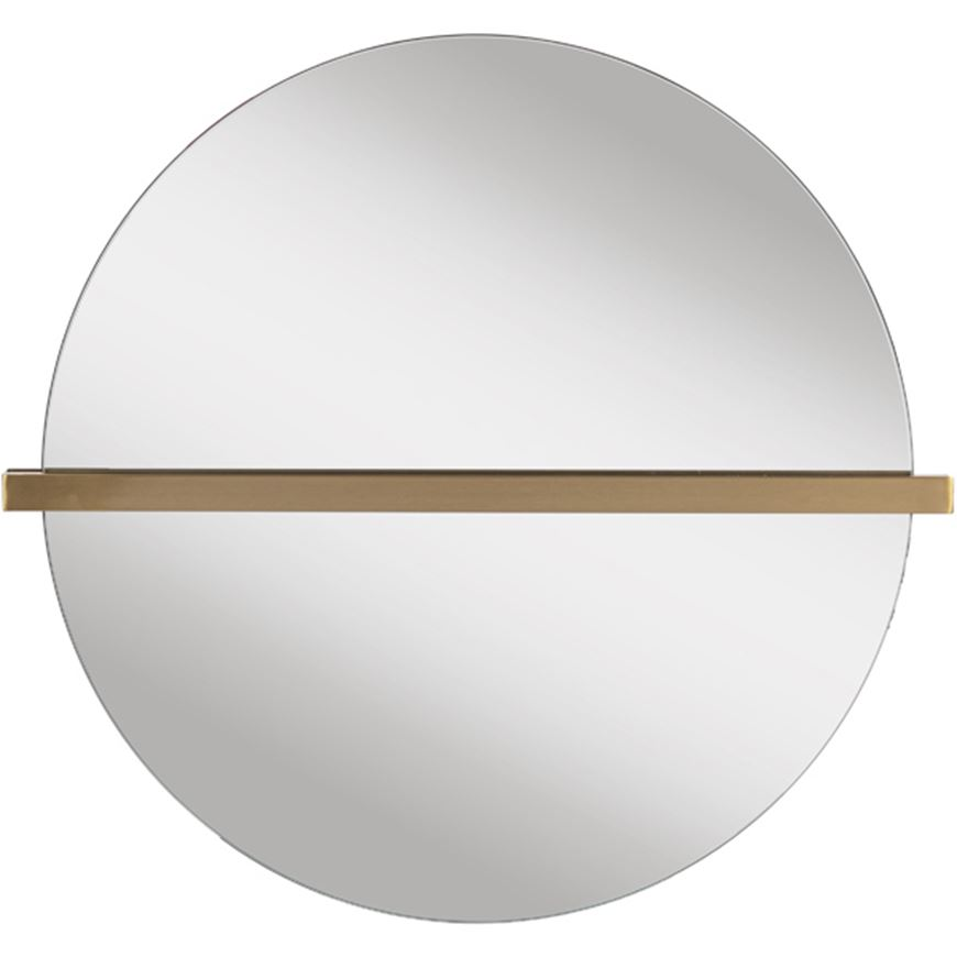 Picture of LINE mirror 76x70 clear/brass
