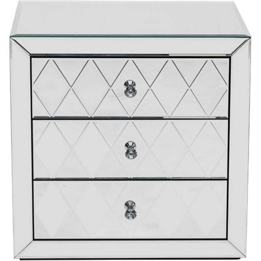 CRYSTAL bedside table clear