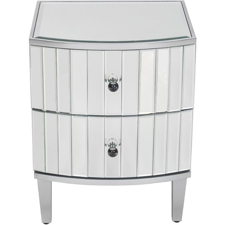 FREI bedside table clear/silver