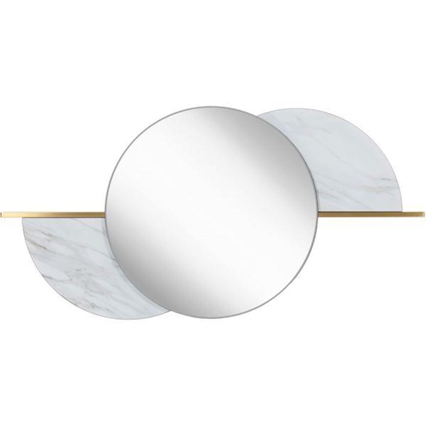 GEM mirror 120x60 clear/gold