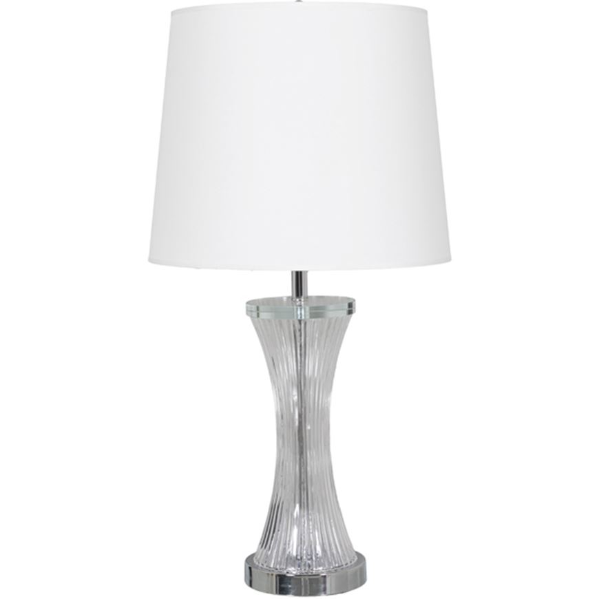Picture of GRAPH table lamp h69cm white/clear