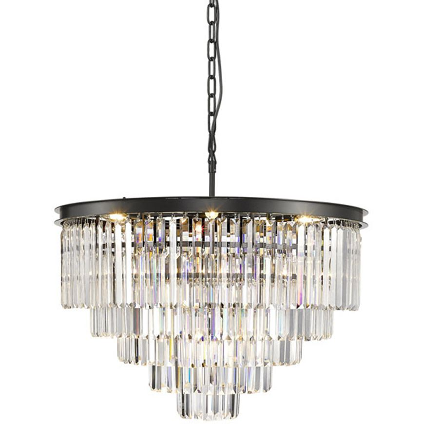 Picture of NENO 80 chandelier d80cm clear/black