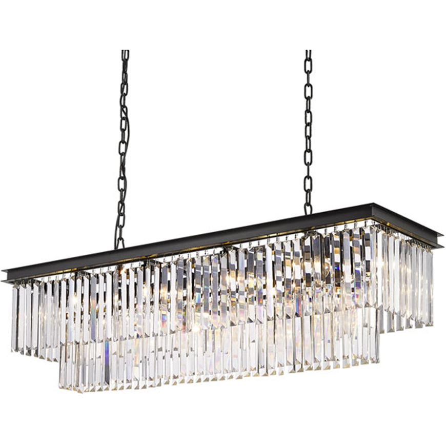 Picture of NENO 120 chandelier 125x36 clear/black