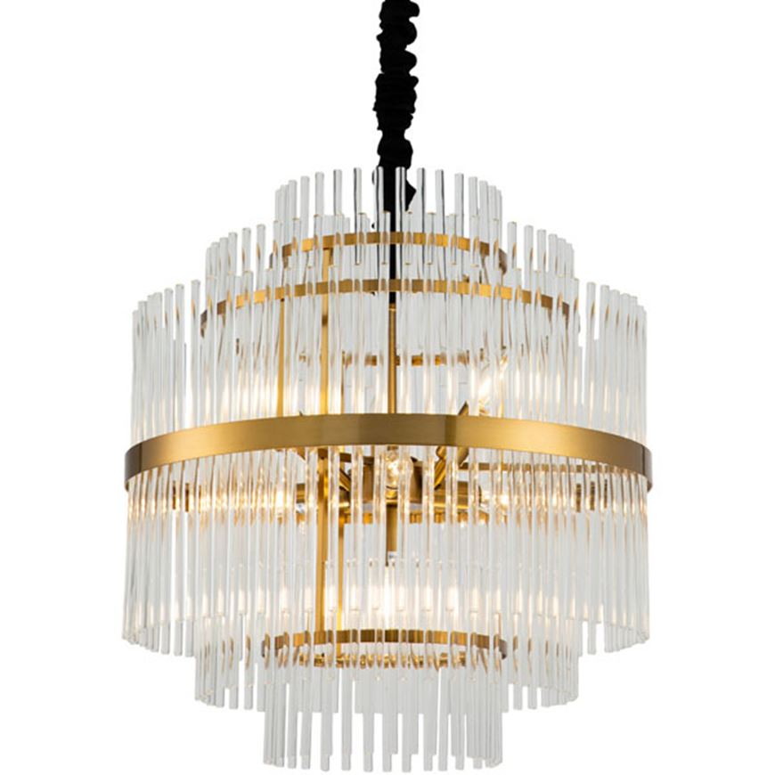 Picture of NENO 50 chandelier d52cm clear/brass