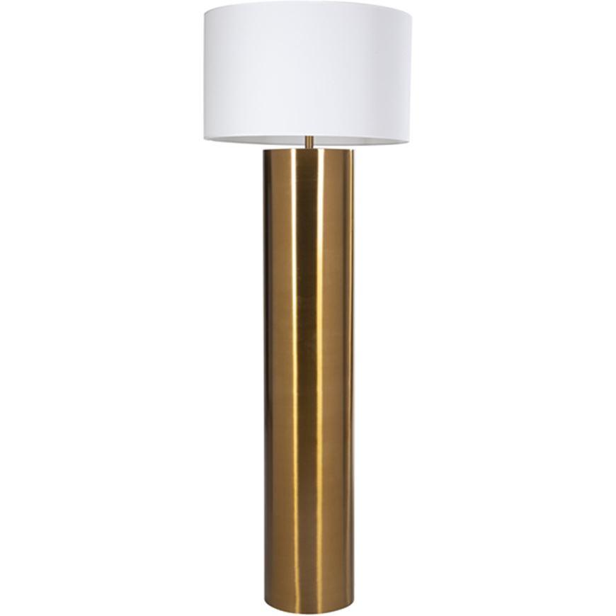 Picture of CHIMNEY floor lamp h175cm white/brass