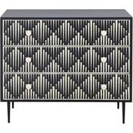 RAIN chest 3 drawers black