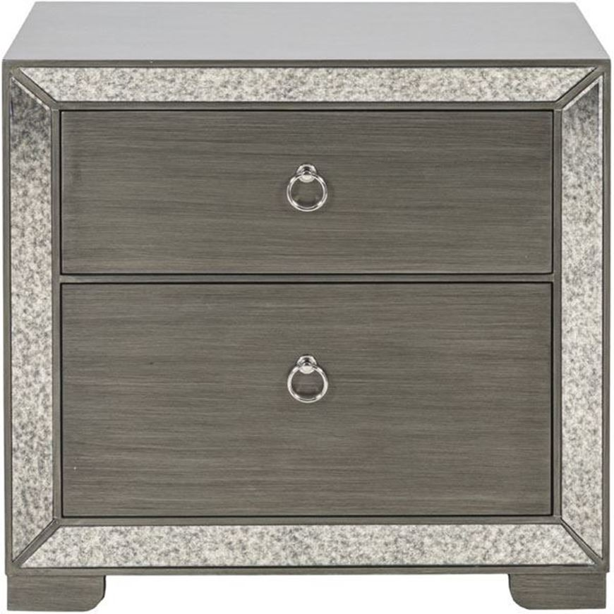 MENA bedside table clear/silver