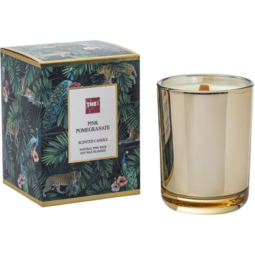 Picture of PINK POMEGRANATE candle gold