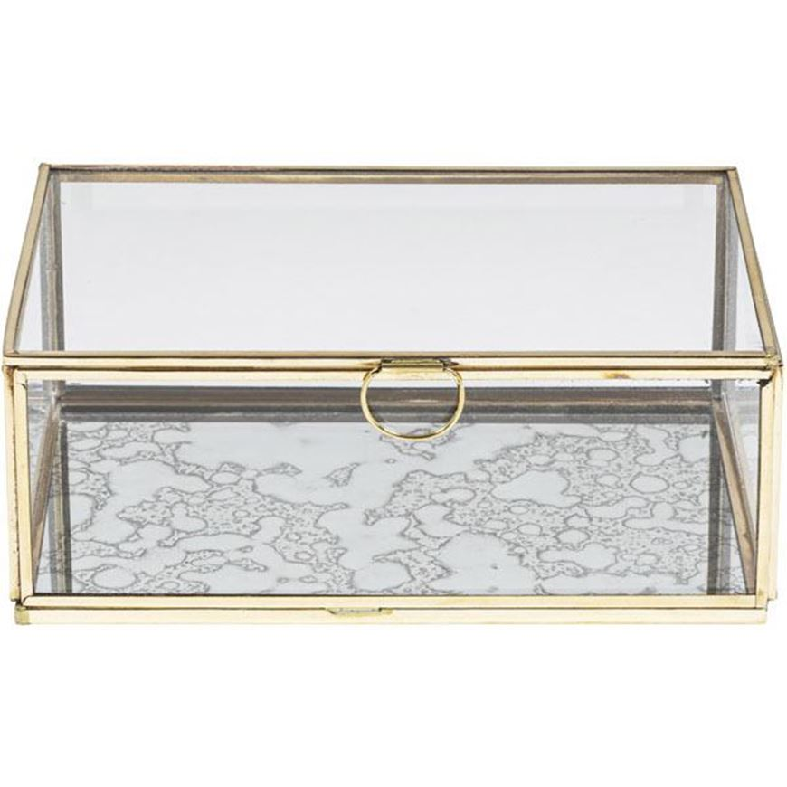 ELLISON box 21x14 clear/gold