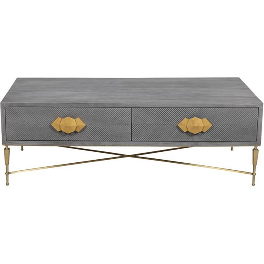 TOTO coffee table 150x75 grey/gold