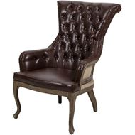 DECON armchair leather brown