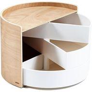 MOONA storage box natural/white