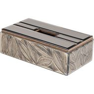 LEAF tissue box 15x27 brown