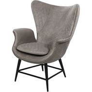 EON wing chair microfibre taupe