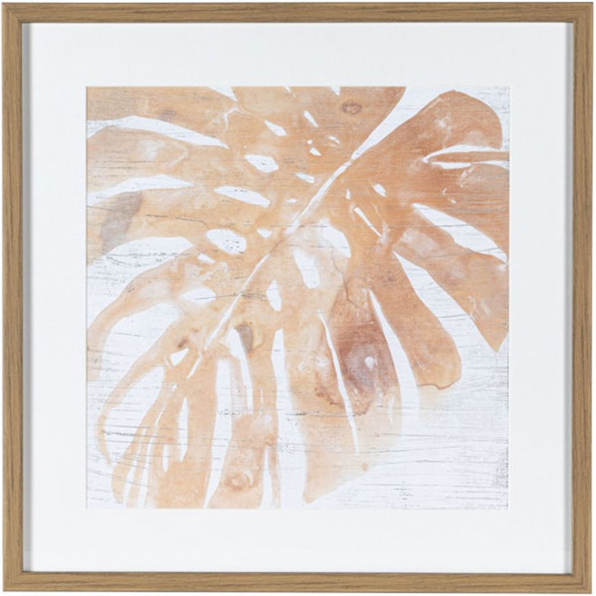 Picture of NEUTRAL Palm Fossil I print 61x61 brown