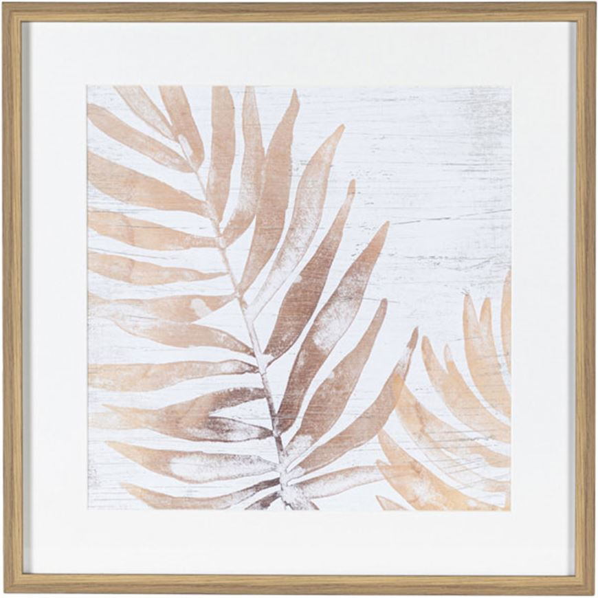 Picture of NEUTRAL Palm Fossil II print 61x61 brown